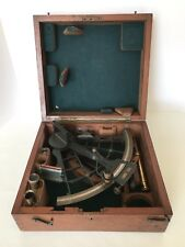 Antique Maritime Nautical Ships Brass Sextant Lilley & Son Original * Wooden Box