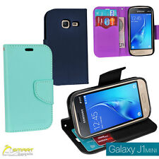 CL Wallet Flip Card Slot Case Cover For Samsung  Galaxy J1 mini J 105