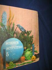Vintage Science Activities 5 Elementary School Science Book 1960's