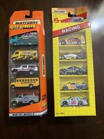 Lot of 2 Matchbox 5 Packs-1992 Racing & 1997 City Streets Exclusive Designs