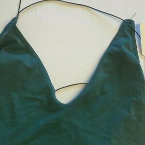 Free People Green Backless Strappy Tank Size XS/S Brand New With Tags Defect