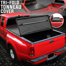 FOR 99-14 FORD F250 F350 SUPER DUTY 8' BED TRI-FOLD SOFT TOP TRUNK TONNEAU COVER
