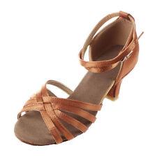 Generico 1 par Mujer Zapatos Tacon De Salsa Bachata Latinos Baile Sandalias K8Z8