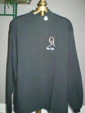 """Apple Logoed """"OS 9"""" Black Mock Turtle Neck Shirt - Large"""