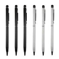 [6-PACK] 2-in-1 Touch Screen Stylus & Ballpoint Pen for Phone Tablet iPhone iPad