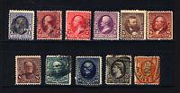 #219-229 1c-90c 1890-93 VF Mint & Used 11 items CV $532