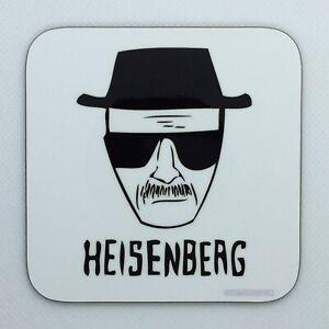 FACE OF HEISENBERG - Breaking Bad Coaster / Bar Mat - Sturdy, Gloss, Original