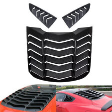 Rear Window Louver & Quarter Side Scoop Cover Vent For 2015-2018 Ford Mustang ya