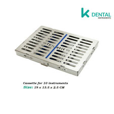 Cassette tray for 10 instruments slim dental, hand imstruments esterelizacion CE