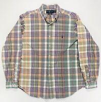 Ralph Lauren Vintage Men's Classic Fit XL Button Down Plaid Shirt Multicolor