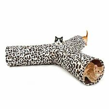 PAWZ Road Leopard Print 3 Way Cat Tunnel crinkly sounds, Cat Tunnel Toy indoor