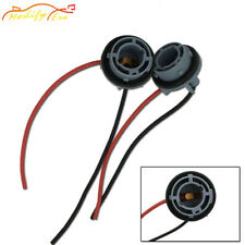 2pcs 1156 7506 P21W Sockets Harness Adapters For Brake Turn Signal Backup Lights