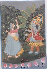 Peinture sur soie Inde - silk painting India .