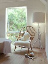"""Ikea Tejn White Faux Sheepskin Rug Modern Throw chair cover 40x24"""" NEW Fast Ship"""