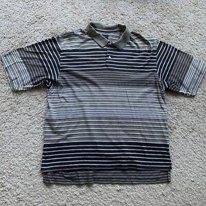 Nike Golf Mens XL Brown Striped Short Sleeve Polo Shirt IR47
