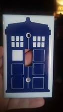 Dr who Blue Tardis Light switch cover