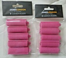James London Styling Hair Rollers Pink 10 Rollers 2 x 5pk New Free P&P Hair Care