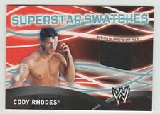 "CODY RHODES 2011 Topps WWE ""Superstar Swatches"" EVENT-WORN T-SHIRT RELIC Dusty"