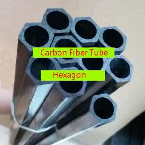2* 50cm Length Carbon Fiber Tube Outer Hexagon Inner Circle Tube 14X12mm 16X14mm