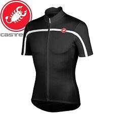Castelli Classica Mens Jersey - Black 010 - Sizes S, M, L, XL, 3XL