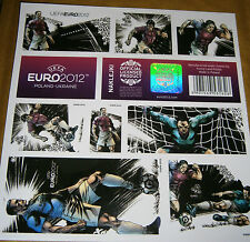 EURO 2012 FOOTBALL CHAMPIONSHIPS - POLISH STICKER SHEET - PLAYERS (1) 16 X 16 cm
