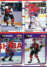 1990/91 1991/92 Score American Hockey complete / finish your set, you pick 25