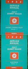 1995 Dodge Colt Summit Wagon Shop Service Manual Vol 1 2 Set 95