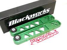 BLACKWORKS BILLET LCA LOWER CONTROL ARM 02-06 ACURA RSX DC5 GREEN