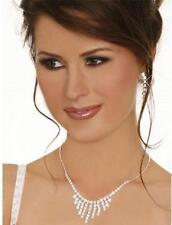 Wedding Party Bridal Bridesmaid Rhinestone Crystal Necklace Earring Jewelry Set