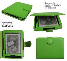 Custodia pelle* per Trekstor 4 , Liro Ink & TrekStor PYRUS Lettore e-book verde