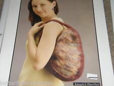 Fiesta Yarn Felted  Purse Shoulder Bag Knitting Pattern