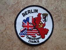2 Stück Aufnäher Berlin Mauer November 1989 Checkpoint (648)