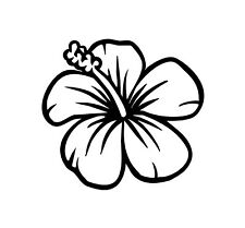 Hibiscus Flower Decal Sticker Hawaiian Car Window Beach Tropical