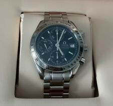 Very Good Condition Authentic Omega Speedmaster Date 3513.80 Blue Just Serviced