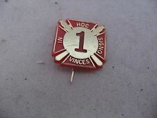 "Vintage Red Plastic Mason Freemason IN HOC SIGNO VINCES ""1"""