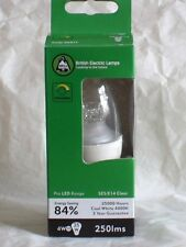 BELL LIGHTING * 4w DIMMABLE LED CANDLE SES E14 CLEAR 05077 * COOL WHITE