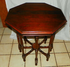 Solid Walnut Octagon Lamp Table / Parlor Table  (T328)