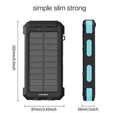 100W Folding Solar Panel Flexible Portable Bag 12V Battery Charging Camping AS