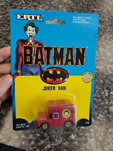 Batman Diecast Metal ERTL 1989 Joker Van Carded