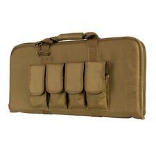 """NcStar Vism CVCP2960T TAN 28"""" Padded Lockable Subgun Rifle Gun Case Mag Pouch"""
