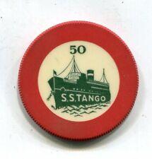 $50 S.S. Tango Santa Monica Ca.Gambling Ship Closed 1946
