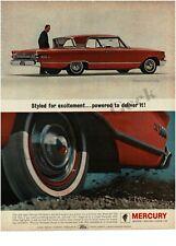 1963 MERCURY Monterey S-55 Carnival Red 2-door Hardtop VTG PRINT AD