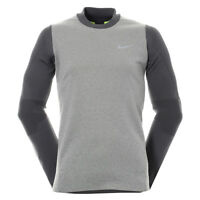 Nike Tech Sphere Knit Crew Mens Golf Cover Up Pullover Grey Size XL 801904 091