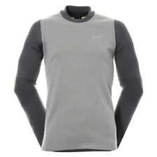 Nike Tech Sphere Knit Crew Mens Golf Cover Up Pullover Grey Size L 801904 091