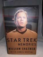 1993 Star Trek Kirk William Shatner Star Trek Memories Hard Cover Book