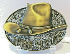 "John Wayne Belt Buckle WALL ART Collection ""WHITE HAT"" Bradford Exchange Cowboy"