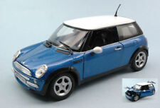 Mini Cooper 2001 Blue / White 1:18 Model MOTORMAX