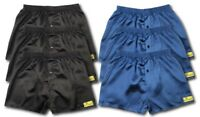 6 PACK MENS SATIN BOXER SHORTS NAVY BLACK GREY UNDERWEAR S M L XL XXL S611