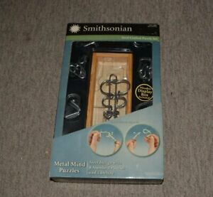 SMITHSONIAN 9 STEEL CRAFTED METAL MIND PUZZLES w/PRESENTATION BOX