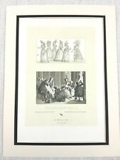 1888 Antique Print French Historical Fashion Costume Dress Beauty 18th C France